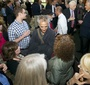 David Strathairn is surrounded by admirers at the reception, which was sponsored by the Jan Karski Educational Foundation (Rafael Suanes-Georgetown Univ.)