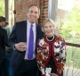 GU Press Director Richard Brown and Gail Griffin, who organized the event (Rafael Suanes-Georgetown Univ.)
