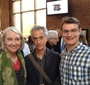 Wanda Urbanska, David Strathairn, Jacek Slowikowski at the reception after the dramatic reading (Wanda Urbanska)