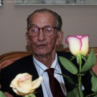Karski in his birthplace of Lodz 1999 (courtesy Museum of the City of Lodz)