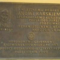 Plaque in Kazimierz Dolny (Courtesy Ewa Wierzynska)