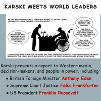 Slide from the presentation about Karski at FHM