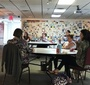 Teachers listen to the presentation about Karski at the teacher training at the Florida Holocaust Museum (Photo: Urszula Szczepinska)