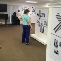 The viewing of the Karski exhibit at the Holocasut Museum and Education Center of Suthwest Florida (Photo: Courtesy of the Holocaust Museum and Education Center of Southwest Florida)