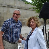 Maciej Kozłowski, former Ambassador of the Republic of Poland to Israel and Ewa Junczyk-Ziomecka, President of Fundacja Edukacyjna Jana Karskiego (Photo: Antoni Szczepański)