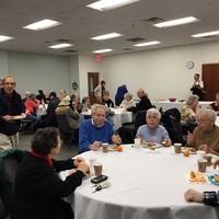 Beth Meyer Synagogue audience members enjoying brunch (Photo: Jane Robbins)