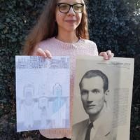 Maja Majewska, student at the Elementary School No. 1 in Tuszyn, Poland, presents her artwork (Photo: Robert Kobylarczyk)
