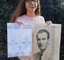 Maja Majewska, student at the Elementary School No. 1 in Tuszyn, Poland, presents her artwork (Photo: Robert Kobylarczyk)