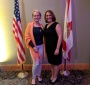 JKEF's Bożena U. Zaremba and FCSS President, Teresita (Terry) Davila-Alexander at the Awards Dinner honoring exceptional teachers (Photo: Lauren Samoszenko)