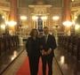 Prezes Ewa Junczyk-Ziomecka i ambasador Krzysztof Krajewski w synagodze w Sofii