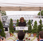 President of Fundacja Edukacyjna Jana Karskiego in Warsaw, Ewa Junczyk-Ziomecka delivers her remarks during the ceremony naming a Paris square after Jan Karski. (Photo: Rafał Krawczyk)