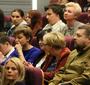 Widownia podczas obchodów 102 urodzin Jana Karskiego w Centrum Dialogu im. Marka Edelmana w Łodzi (Natalia Żurowska)