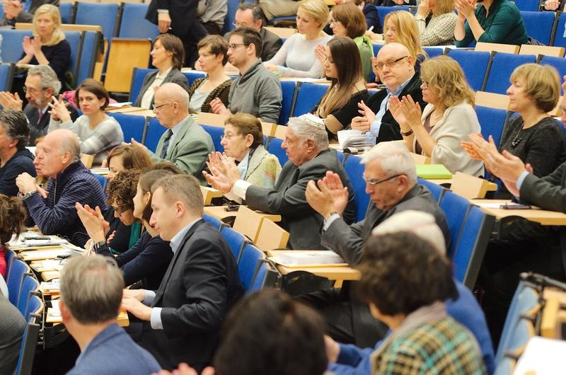 Crowds at the Jan Karski Conference at Warsaw University (Photo: Mateusz Gołąb)