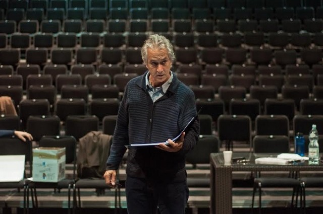 David Strathairn during the rehearsal at the IMKA Theater in Warsaw (Photo: Seweryn Pogorzelski)
