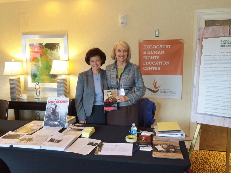Julie Scallero, Co-Director of Education of the Holocaust and Human Rights Education Center and Wanda Urbanska, President of the Jan Karski Educational Foundation (Photo: courtesy of Wanda Urbanska)