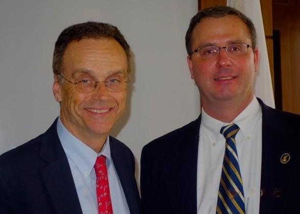 Andrew Nagorski and Stephen Olejasz (Photo by Christina Nagorski)