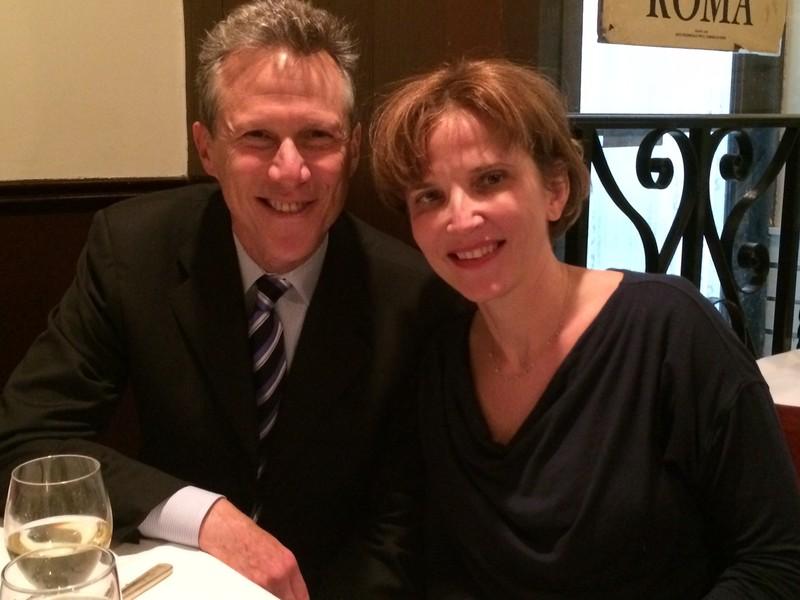 Newly elected JKEF Advisory Board members, Richard Cohen and Dr. Agnieszka Gliwa (Photo by Wanda Urbanska)