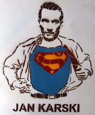 Jan Karski as a hero from the street-art workshop (photo: Dariusz Paczkowski)