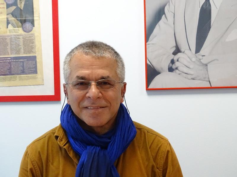 Sławomir Grünberg at the Fundacja Edukacyjna Jana Karskiego office in Warsaw (Photo: Michał Supłat)