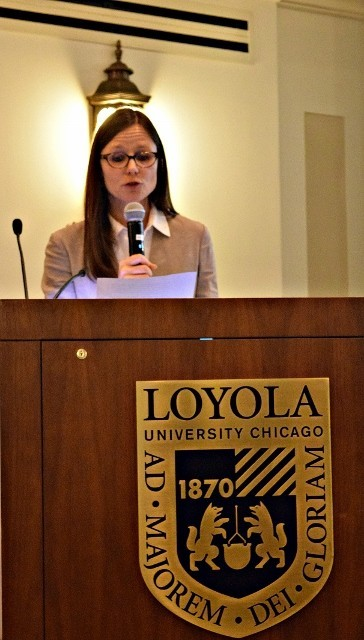 Karen Underhill, Assistant Professor at the Dept. of Slavic & Baltic Languages & Literatures at the University of Illinois at Chicago welcomes the participants of the Third Polish Jewish Studies Workshop (Photo: Agnieszka Jeżyk)