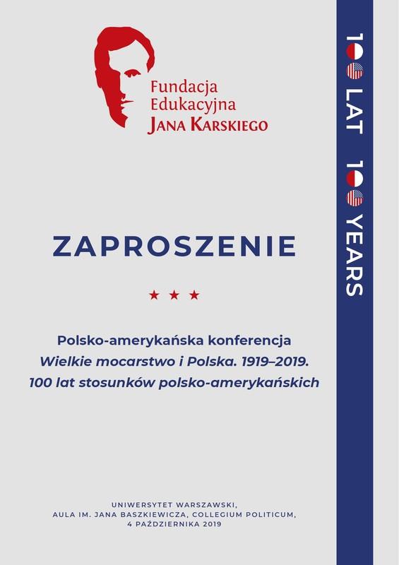 Konferencja Wielkie mocarstwo i Polska 1919-2019