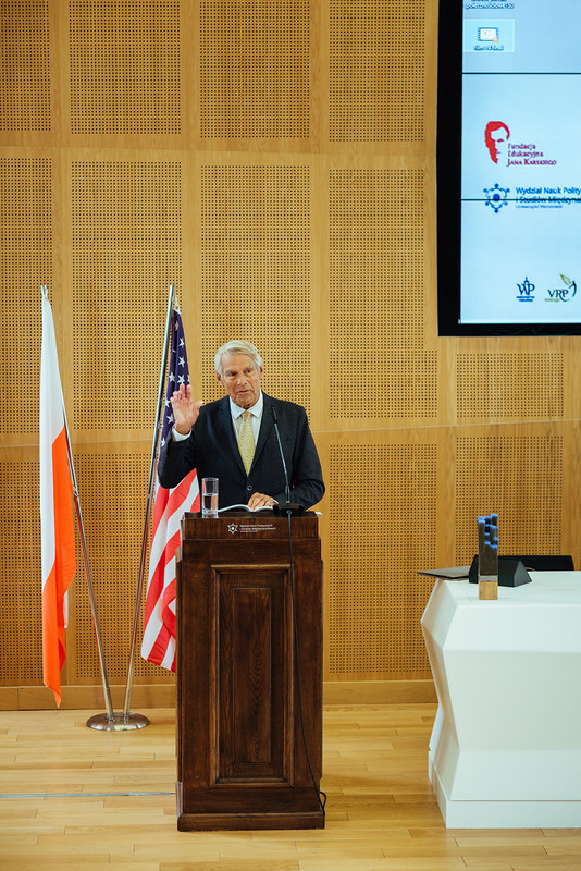 Professor Peter F. Krogh speaking at the international conference in Poland, The Great Power and Poland: 1919-2019. (Photo: Przemek Bereza)