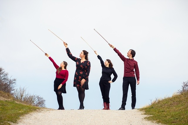 Members of the Karski Quartet (from the left): Natalia Kotarba, Julia Kotarba, Kaja Nowak, and Diede Verpoest (Photo: Juri Hiensch)