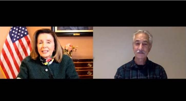 """House Speaker Nancy Pelosi and David Strathairn, an Oscar-nominated actor who plays Karski in """"Remember This,"""" were special guests at a virtual event, """"Bearing Witness: The Legacy of Jan Karski."""""""