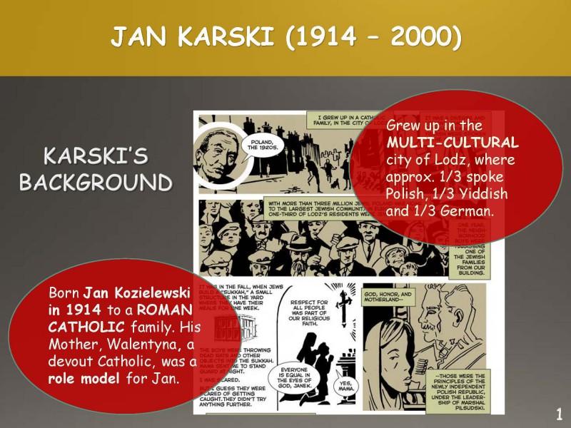 Slide from the presentation about Jan Karski